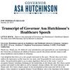 Hutchinson healthcare speech transcript