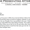 Lonoke County Prosecuting Attorney letter