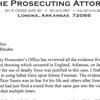 Lonoke County Prosecuting Attorney letter