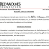 Terry Mohajir's personal services agreement with the Red Wolves Foundation