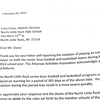 Letter from AAA acknowledging forfeits