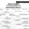 Annual statements for Arkansas Superior Select