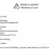 Brad Bolding's appeal letter