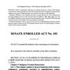 Indiana Senate Enrolled Act 101
