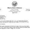 Chief Justice Jim Hannah recusal letter