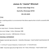 Jamie Mitchell resume