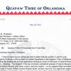 Quapaw Chairman John Berrey letters