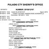 Pulaski County sheriff's office report • June 15, 2015