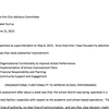 Kurrus' status report to the district's Civic Advisory Committee