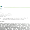 Central Arkansas Water letter to Judge Baker