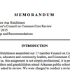 Governor's Council on Common Core recommendations