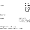 Department of Human Services letter