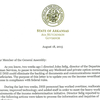 Governor letter about Medicaid suspension