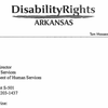 Disability Rights Arkansas letter