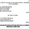 Order denying state's request to dismiss execution lawsuit