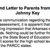 Johnny Key's letter on PARCC scores
