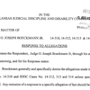 Judge Boeckmann's response to allegations