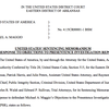 U.S. motion on Maggio sentencing