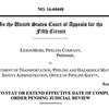 Exxon's appeal in Mayflower case
