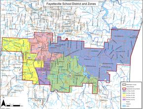 Fayetteville School Board Zones
