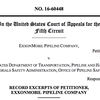 Record excerpts of Exxon in Mayflower case