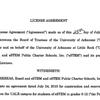 License agreement and amendment for UALR, eSTEM
