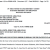 Preliminary injunction order in Planned Parenthood case