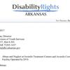 Disability Rights Arkansas letter