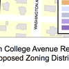 North College Avenue Rezone Proposed Zoning Districts