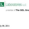 2011 GEL Laboratories data report