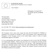 Letter from EU ambassador to Hutchinson