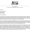 Damphousse offer letter from ASU