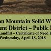 Boston Mountain Solid Waste Public Hearing