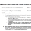 Proposal to change general education at University of Arkansas, Fayetteville