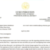 Letter from Luke Ferguson to Agent Middleton