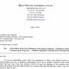 Letter from Beau Wilcox to Luke Ferguson
