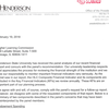 Letters from Henderson State, Higher Learning Commission