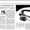Michael Storey's 1992 column about Otus, the Head Cat