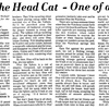 Otus the Head Cat's first appearance in 1979