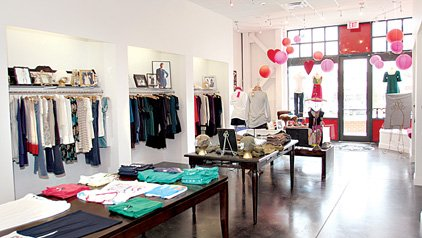 Shop talk scarlet adds a bright splash to clothing selection for Aby mackie salon little rock