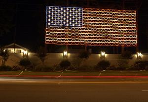 street with most lights america show light house flag florida up ever patriotic american christmas