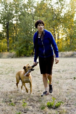 Wendy (Michelle Williams) has a true friend in her dog in Wendy and Lucy.