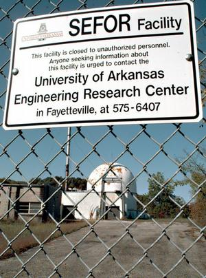 "A deserted nuclear ""breeder"" reactor, owned by the University of Arkansas stands on a site approximately 20 miles south of the UA campus in this 1997 file photo."