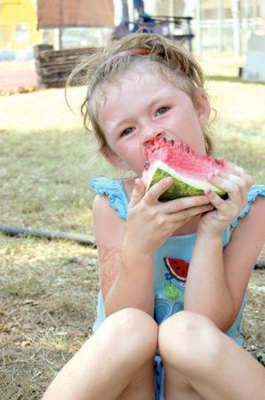 Haley Adams enjoys a big slice of watermelon at the 2007 Cave City Watermelon Festival. This will mark the festival's 30th year. It is scheduled for Thursday, Aug. 6, through Saturday, Aug. 8.