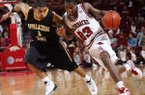 Julysses Nobles (23) and the Arkansas Razorbacks, who needed overtime Friday to beat Appalachian State 81-72, host Morgan State today, an opponent Coach John Pelphrey is certain his team won't overlook.