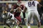 Arkansas QB Ryan Mallett was only 7-20 on pass completions in the first half of the Arkansas game against LSU.