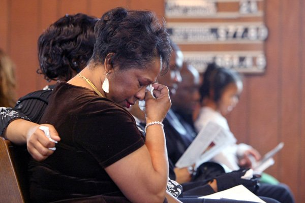 jackie-brown-wipes-a-tear-saturday-as-she-is-joined-by-100-mourners-at-a-memorial-service-in-little-rock-for-her-daughter-carmeletta-green-who-had-been-missing-since-1982-carmelettas-skeletal-remains-were-not-identified-until-nov-30-this-year