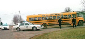 Pea Ridge police investigated an incident about 3:30 p.m. Friday involving an adult male who boarded a school bus at a bus stop on McNair Street and refused to leave the bus.