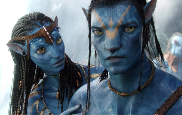 navi-princess-neytiri-motion-capture-of-zoe-saldana-counsels-the-conflicted-jake-motion-capture-of-sam-worthington-in-james-camerons-avatar-which-has-become-the-highest-grossing-movie-ever