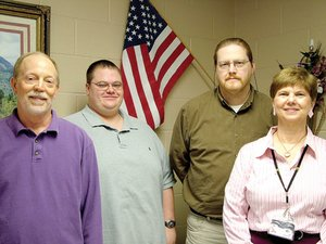 Pea Ridge High School fine arts teachers Matt McCool, Joe Stewart, Van Enderson and Sandra Thomas.